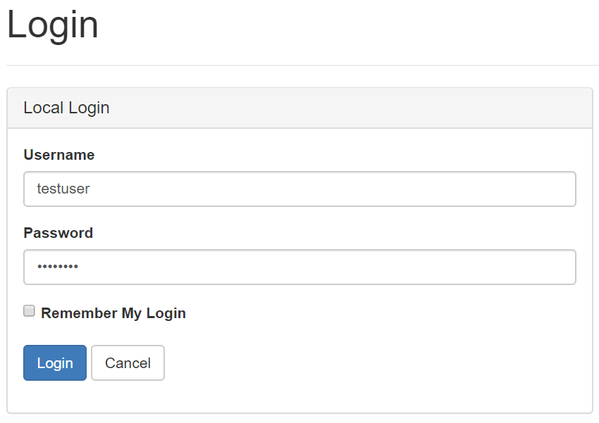 IdentityServer4 login page screenshot