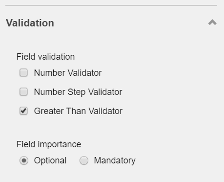 Sitecore Forms Editor Validation section