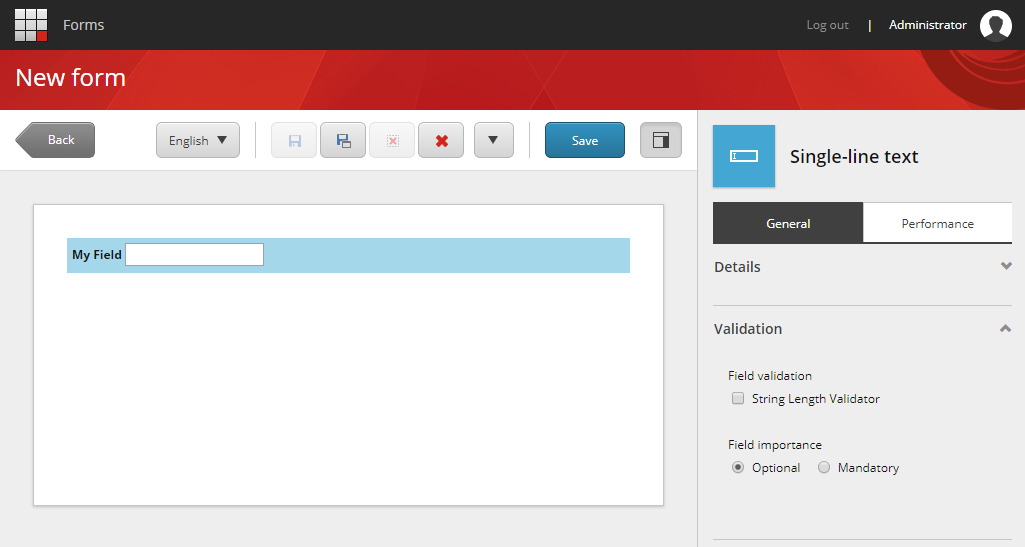Sitecore Forms Validation Options