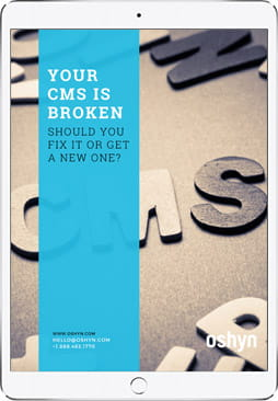 Your CMS is Broken ebook cover on iPad