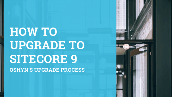 Ebook cover: How to Upgrade to Sitecore 9