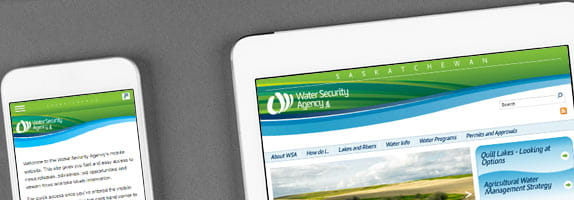 WSA website on mobile devices