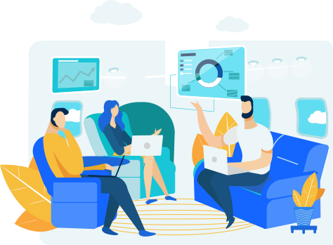 illustration of people in a meeting