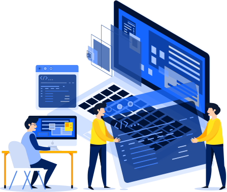 Experienced developers building a website
